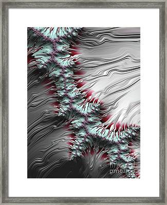 Liquid Silver Framed Print