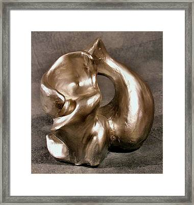 Liquid Silver Framed Print by Lonnie Tapia