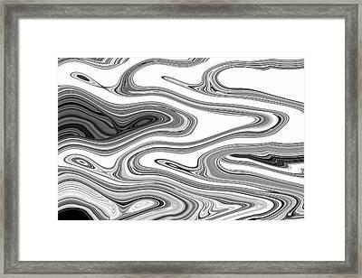 Liquid Smoke Framed Print by Joshua Sunday