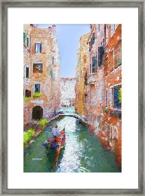 Liquid Streets Of Venice Framed Print