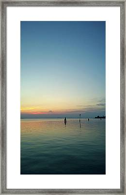 Framed Print featuring the photograph Liquid Sunset by Anne Kotan
