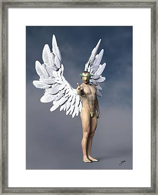 Liquor Angel Framed Print