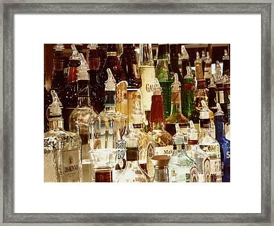 Liquor Bottles Framed Print
