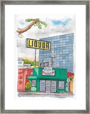 Liquor For Lease In Burbank, California Framed Print