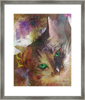 Lisa Beckons Framed Print by John Robert Beck