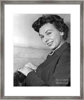 Lisa Ferraday At Supreme Court. 1954 Framed Print by Barney Stein