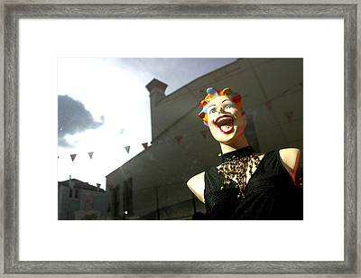Lisa M Going Out Framed Print by Jez C Self
