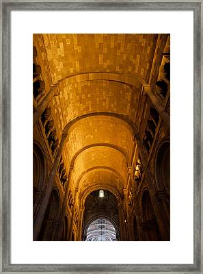 Lisbon Cathedral Interior With Barrel Vault Framed Print by Artur Bogacki