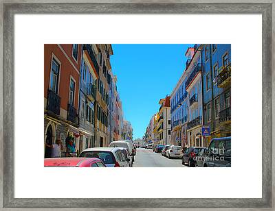 Lisbon City Framed Print by Carey Chen