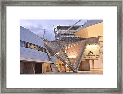 Framed Print featuring the photograph Lisbon International Fair Building by Marek Stepan