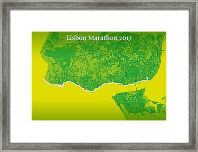 Lisbon Marathon #2 Framed Print by Big City Artwork