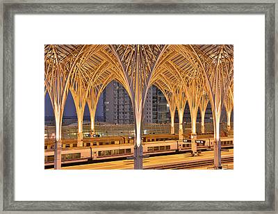 Framed Print featuring the photograph Lisbon Oriente Station by Marek Stepan