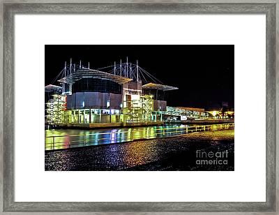 Lisbon - Portugal - Oceanarium At Night Framed Print