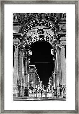 Lisbon - Portugal - Triumphal Arch - Rua Augusta Framed Print
