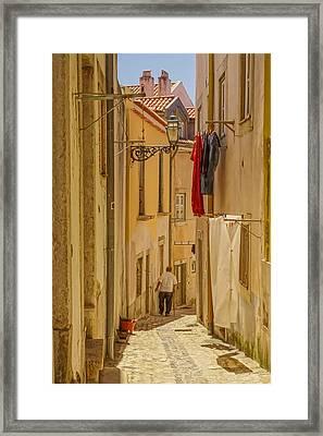 Lisbon Street # 1 Framed Print by Tom and Pat Cory
