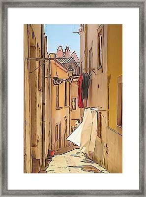 Lisbon Street #2 Framed Print by Tom and Pat Cory