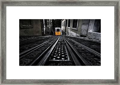 Lisbon Tram Framed Print by Jorge Maia