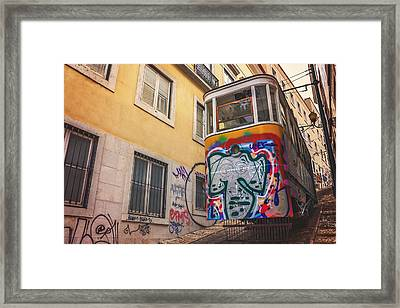 Lisbon's Lively Transport Framed Print by Carol Japp