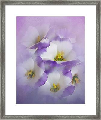 Framed Print featuring the photograph Lisianthus Grouping by David and Carol Kelly