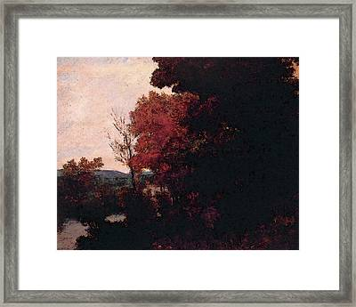 Lisiere De Foret Framed Print by Gustave Courbet
