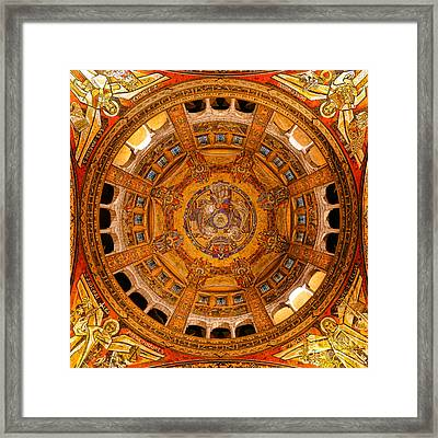 Lisieux St Therese Basilica Dome Ceiling Framed Print by Olivier Le Queinec