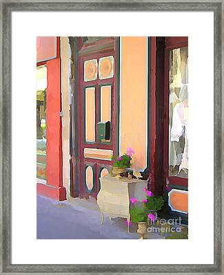 L'isle Shops Framed Print by Jennifer Smith