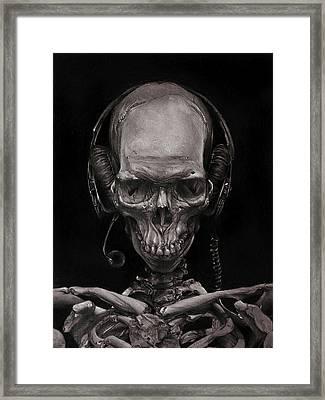 Listen 17 - Self Portrait 41,  Dec 2016 Framed Print by Brent Schreiber
