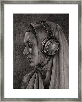 Listen 21 Framed Print