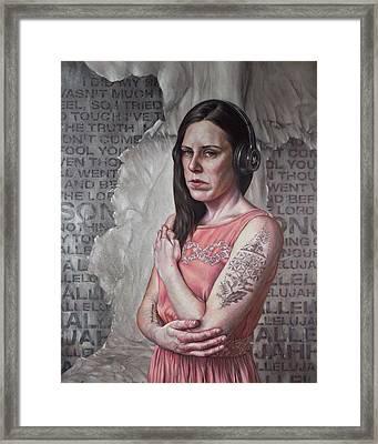 Listen 24 - Hallelujah Framed Print by Brent Schreiber