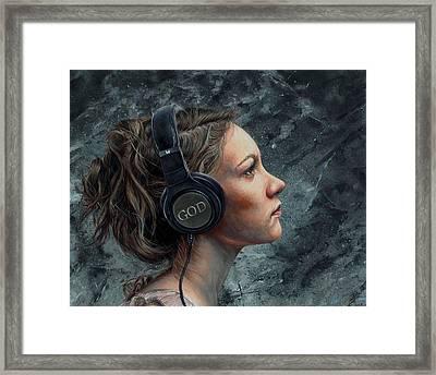 Listen 4 Framed Print by Brent Schreiber