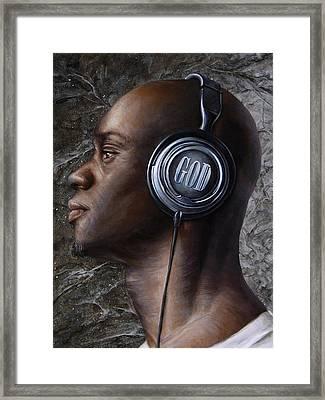 Listen 5  Framed Print