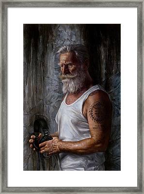 Listen 6 - Job Framed Print by Brent Schreiber