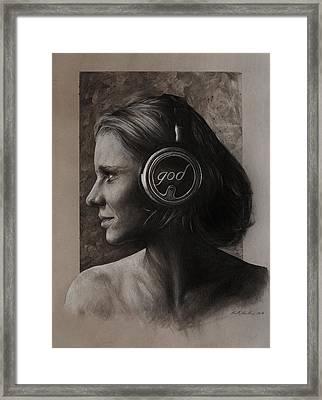 Listen 7 Framed Print