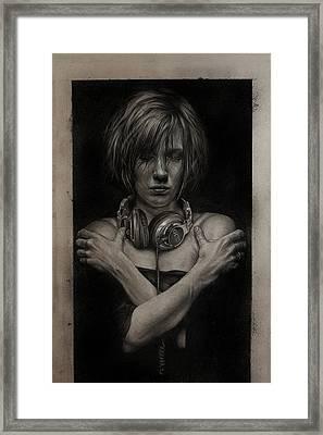 Listen 9  Framed Print by Brent Schreiber