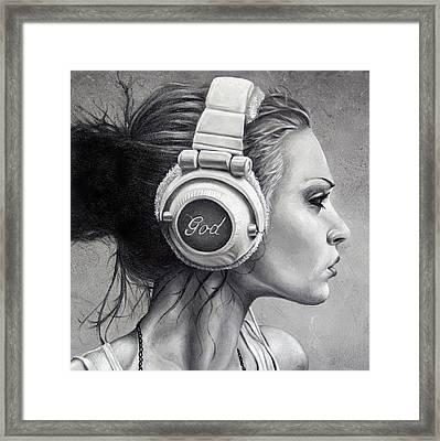 Listen Framed Print by Brent Schreiber