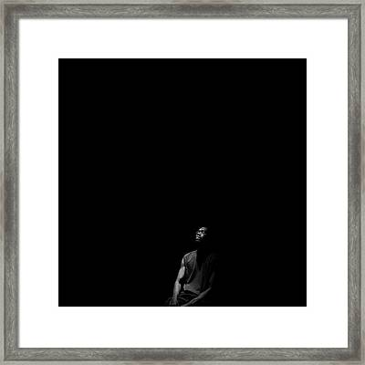 Framed Print featuring the photograph Listen by Eric Christopher Jackson