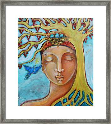 Listening Framed Print by Shiloh Sophia McCloud