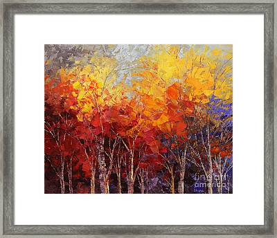 Listening To Leaves Framed Print by Tatiana Iliina