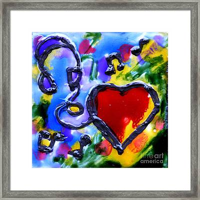 Listening To Music Framed Print by Genevieve Esson