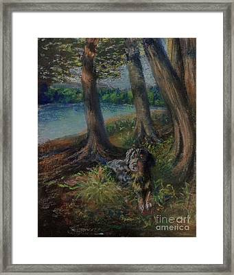 Listening To The Tales Of The Trees Framed Print