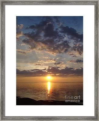 Lit Bay Framed Print by Chad Natti