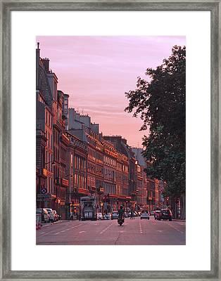 Lit Copper In Paris Framed Print