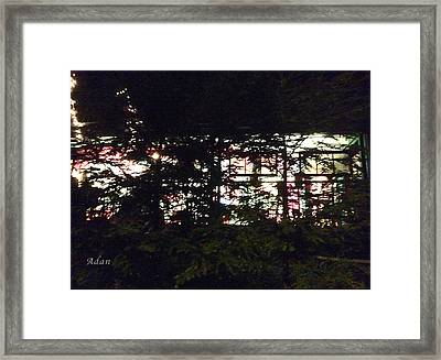 Framed Print featuring the photograph Lit Like Stained Glass by Felipe Adan Lerma