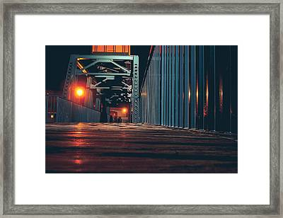 Framed Print featuring the photograph Lit Up by Viviana  Nadowski