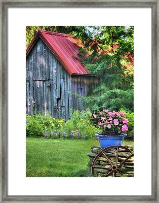 Litchfield Hills Summer Scene Framed Print