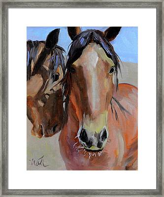 Framed Print featuring the painting Litchfield Homies by Pattie Wall