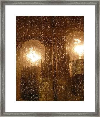 Lite Rain Framed Print by Florene Welebny