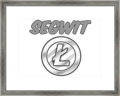 Litecoin Segwit Framed Print