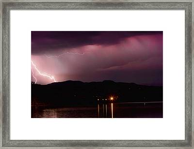 Litghtning In The Air Framed Print by James BO  Insogna
