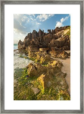 Lithified Cliffs Framed Print by Thorsten Scheuermann